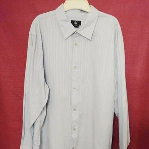 Calvin Klein Light Blue Long Sleeve Dress Shirt